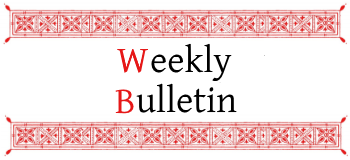 Click to read this week's bulletin